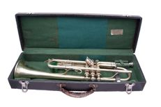 Vintage engraved King Liberty Model trumpet H N White 1920's
