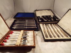 joblot of vintage cutlery with coffe spoons