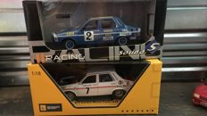 Solido - Scale 1/18 - Lot of 2 model cars: 2 x Renault 12 Rally