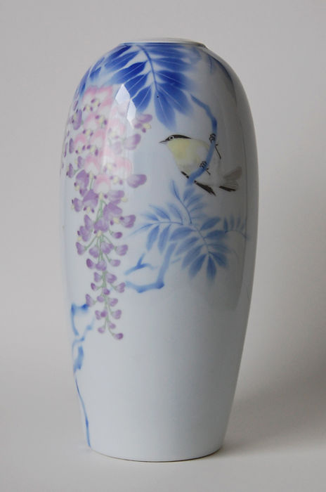 Porcelain Fukagawa Vase Japan Mid 20th Century Catawiki