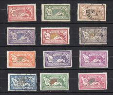 France 1900-1927 - Complete series of Merson Types - Yvert between no. 119 and 240.