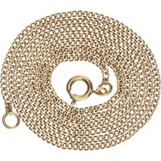 14 kt Yellow gold curb link necklace - Length: 52 cm