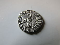 Portugal - D.Manuel I (1495-1521) Half Vintém N/D de Lisboa - Extremely Rare in that condition