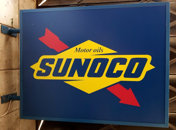 SUNOCO MOTOR OILS  - neon sign