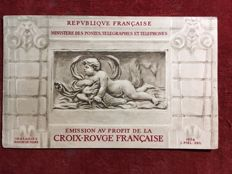 France 1952 – Red Cross Booklet with advertisement 15f + 5f