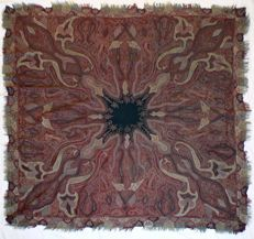 2 wool embroidered shawls, early 20th century