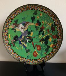 An extra large cloisonne charger - Japan - Late 19th century (Meiji period)