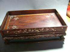 Table tray with inlay - China - End of 19th century.