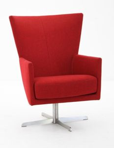 Gijs Papavoine for Montis - red and chrome meeting- or waiting room chair 'Romeo'