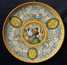 Old Renaissance style wall plate - 42.5 cm