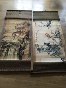 Two Hanging scrolls -China - second half 20 century