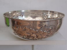 Silver bowl for top award Volvo world cup dressage 1998, Lavorato a Mano, Italy, 1998