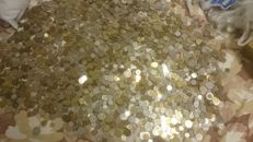 World - Lot of assorted coins, mostly European (20 Kilos)
