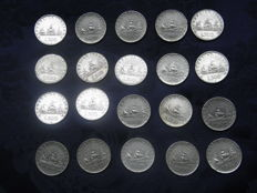 Italy, Republic - 500 Lire 'Caravelle' 1958/1961 (20 coins) - silver