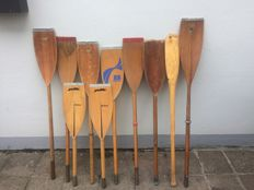 Lot of 10 Paddles / Oars