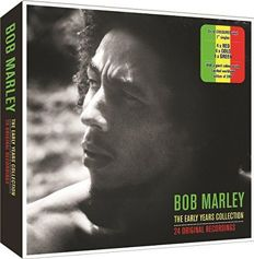"""Bob Marley - The Early Years Collection Box with 12 coloured 7"""" vinyls in red, gold & green vinyl. + poster"""
