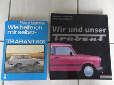 "2 x books Sachsenring Trabant 601 - repair guide & ""Wir und unser Trabant"" illustrated book"