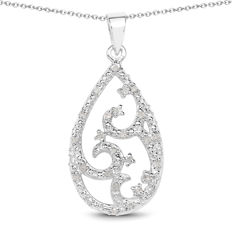Silver 925. Diamond necklace with white diamonds.Diamonds 0,20 ct. length 45 cm ( 17,71 inches)