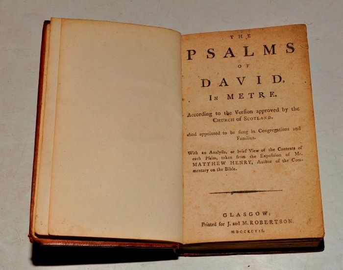 The Psalms Of David In Metre Translations And Paraphrases In Verse