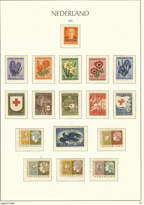 The Netherlands 1940/1992 - Collection in two Leuchtturm albums and a batch in three booklets