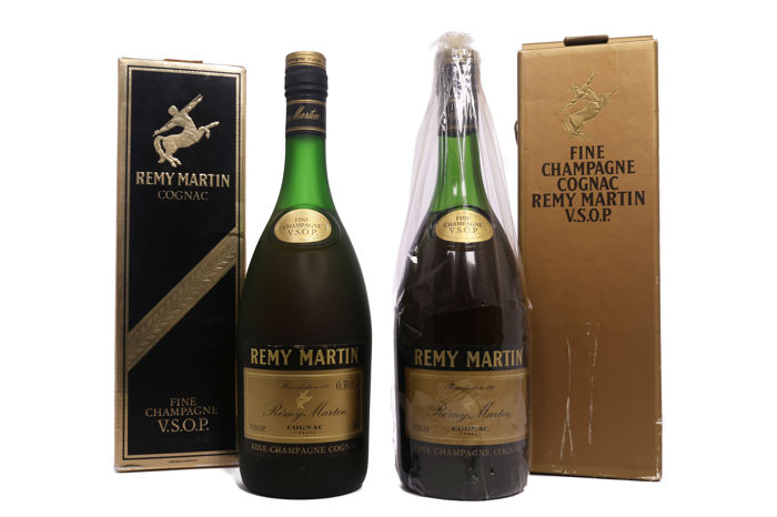 2 bottles Rémy Martin VSOP Cognac Old Bottlings Excellent Condition 1970s 1980s