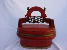 Very beautiful wedding basket - China - end of 19th century