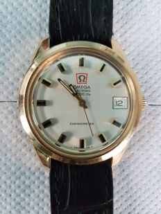 Omega Electronics F 300 HZ , 9 kt gold men's wristwatch Year: 1970