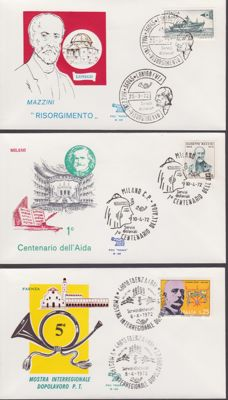 Italy, Republic, 1961/1975 - Collection of 237 first-day envelopes, Rome series