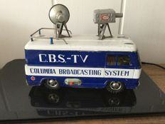 Marusan, Japan - Length 23 cm - Tin Hino CBS TV Truck with friction motor, 1960s