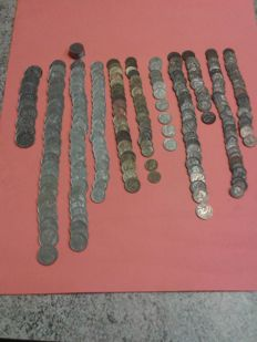 Kingdom of Italy – Lot of 230 coins, Vittorio Emanuele III.