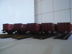 Fleischmann H0 - 5205/5205I/520502 - 5 open freight wagons of the DB/FS