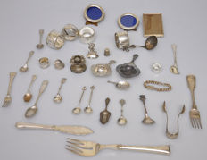 34 items table silver and other works