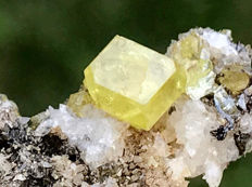 Classic Well Crystallized Gemmy Sulfur Crystals -  8x4x5 cm - 160 g