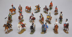 DelPrado - height 9-13 cm - Lot with 19 metal Cavalry Figures of the Napoleonic wars, 20th century