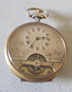 30. Systeme Hebdomas - 8 days Jugendstil pocket watch - around 1915