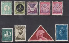 The Netherlands 1894/1938 - Selection of 9 plate flaws