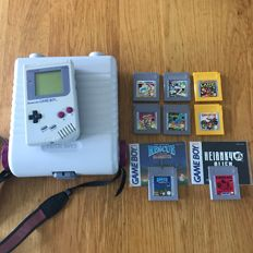 Game Boy + Game Keeper case incl. 8 games