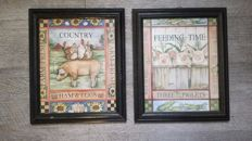2 Country Kitchen Decorative Frames