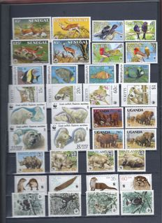 WWF – 140 series, 10 greetings cards, 8 maximum cards