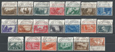 Italy, Kingdom, 1932 - Tenth anniversary since the March on Rome, series of 20 stamps, with airmail and express stamps, Sass. nos. #325-340.