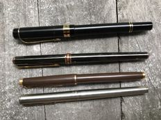 Quartet of pens with 2 Parker and a D. Hechter