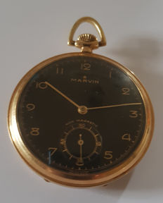 33. Art Deco tailcoat watch Marvin La Chaux-de-Fonds - 14kt gold pocket watch - Switzerland, circa 1925