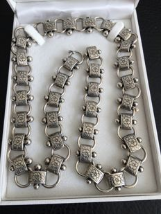 Heavy, silver designer necklace, 830/1000