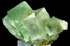 Water clear Cubic Green Fluorite - 9.5 x 6 x 5.5 cm - 140 gm
