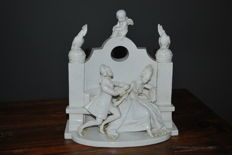 Very rare Rosenthal porcelain figurine of romantic couple on a bench - Designer A.Oppel
