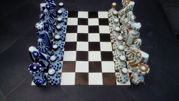 Spanish Chess set, Ceramico de Sargadelos.