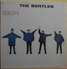 Very cool, Beatles 'Help!' LP cover, tin sign. 12 inches by 12 inches( same size as the actual LP cover.