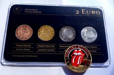 "Germany - 2 Euro 2013 ""Precious Metals"" ennobled, plus medal ""Rolling Stones"""