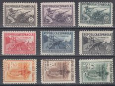 Spain 1938 - Tribute to the Spanish Republican Army - Edifil 792/800