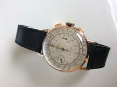 Clipper Chronograph 18k men's watch from the 1950s